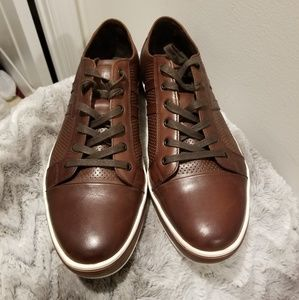 Kenneth Cole Brown Leather Low Top Sneakers